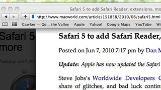 Illustration for article titled First Look at What's New in Safari 5