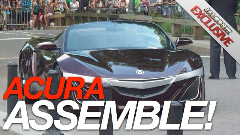 Illustration for article titled New Acura NSX will be hybrid, look like Tony Stark's car from Avengers