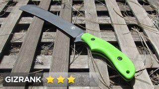 Illustration for article titled Ka-Bar ZK-Pestilence Chopper Knife Lightning Review:  Murders Plants and Zombies