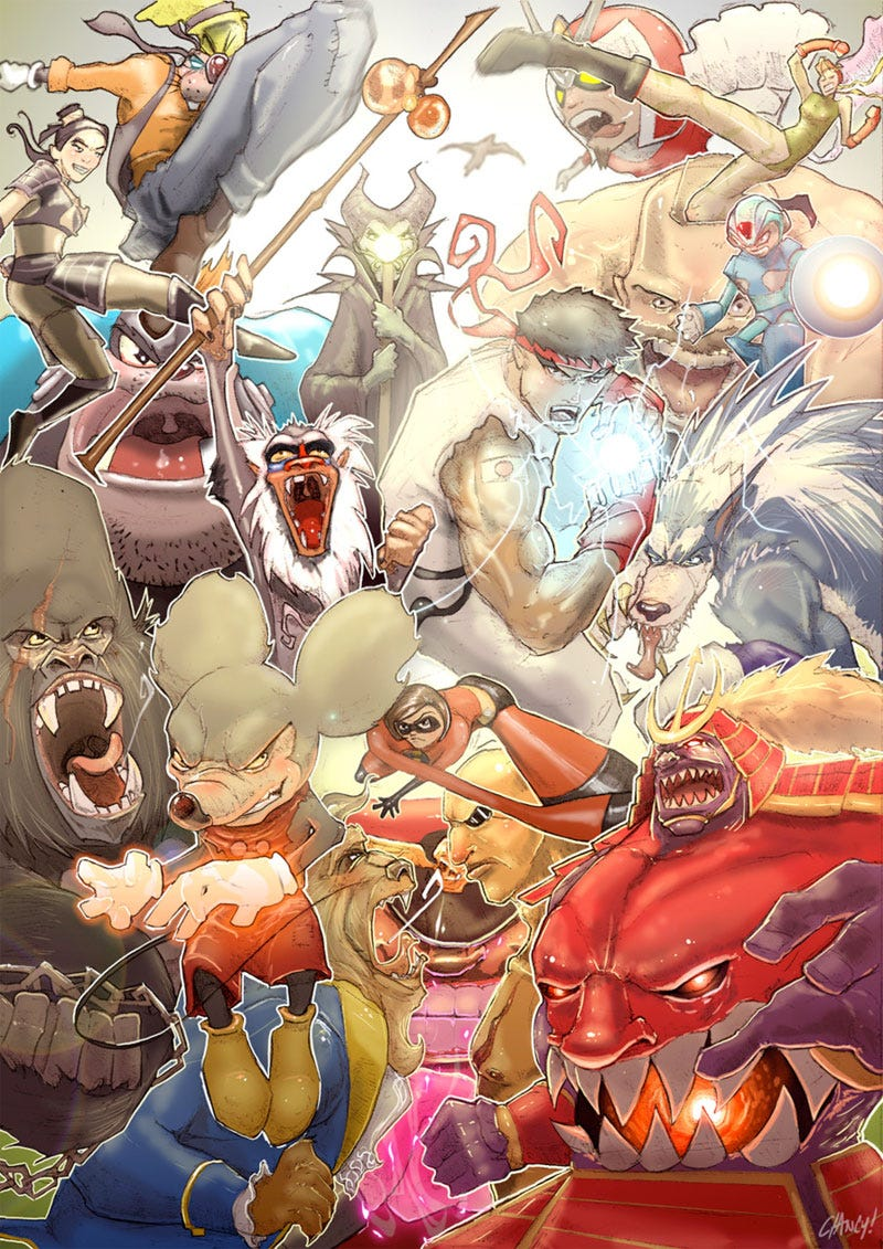 Illustration for article titled Disney Vs. Capcom Isn't Real, But Could Be Someday
