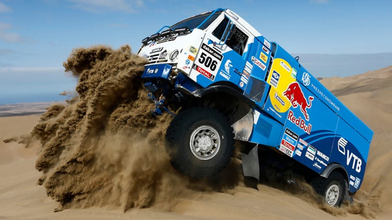 Illustration for article titled Red Bull Wins Battle In The Atacama Desert To Take Dakar Lead
