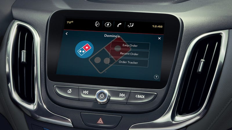 Illustration for article titled Domino's pizza-ordering app may soon come preloaded on your new car