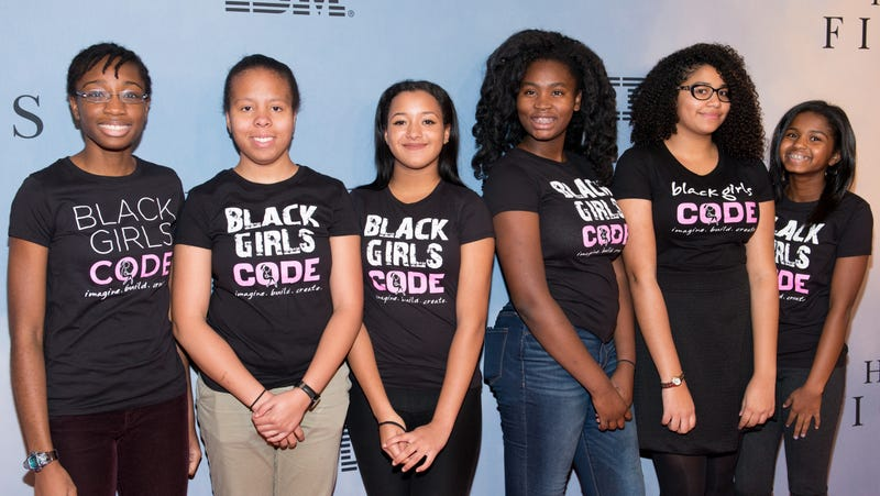 Members of 'Black Girls Code' attend the 'Hidden Figures' New York special screening on December 10, 2016 in New York City.