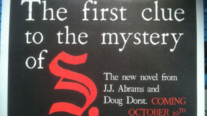 Illustration for article titled That cryptic J.J. Abrams trailer is probably for a book written by somebody else