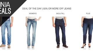 Save 50% or More on a New Pair of Jeans, Today Only