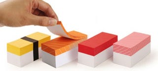 Illustration for article titled These Sushi Notepads Will Remind You To Pick Up Dinner