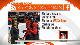 Illustration for article titled Dr. Jen Welter Joins Arizona Cardinals as First Female NFL Coach