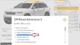 Offroad Adventure pkg deletes rear tow hook?..