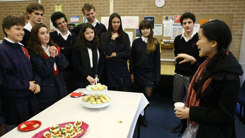 Students at Sydney's Newtown High School of Performing Arts in 2012
