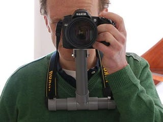 Illustration for article titled Make a Chest Support for your Camera out of PVC Pipe