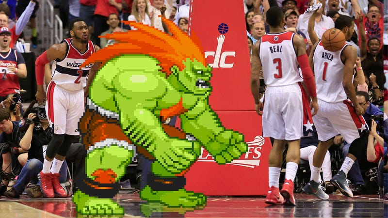 Illustration for article titled The Wizards Lead The NBA In Street Fighter Hairdos