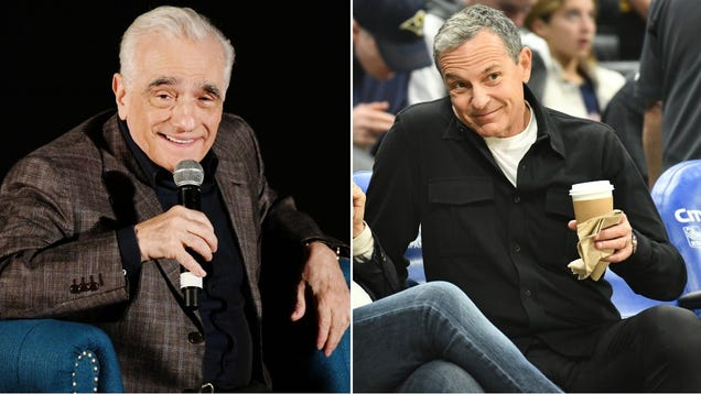 Martin Scorsese and Bob Iger to meet, be insufferable about Marvel movies in person
