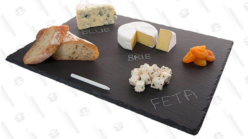 "Stone Age Slate cheese board (12""x16"" Tray) with Soap Stone Chalk   $11   Amazon"