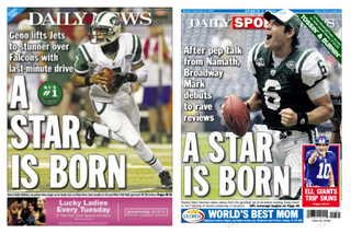 Illustration for article titled Daily News Anoints Geno Smith The Next Mark Sanchez