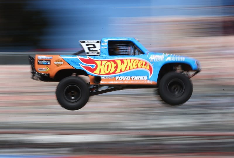 Matt Mingay competing in Stadium Super Trucks at the 2015 Clipsal 500 weekend. Photo credit: Robert Cianflone/Getty Images