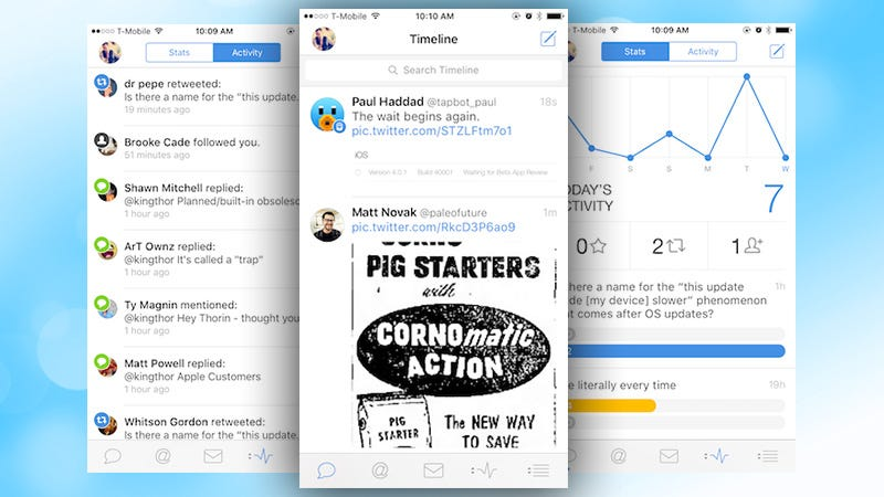 Illustration for article titled Tweetbot 4 Comes to the iPad, Adds Statistics, Landscape View, and More to iPhone