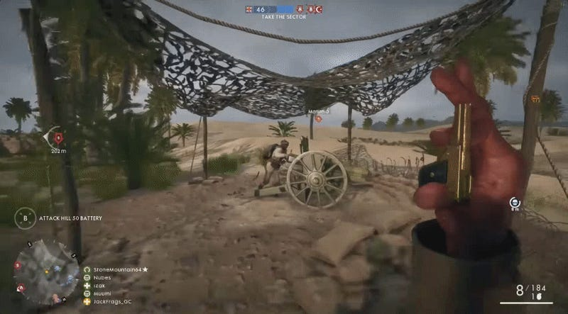 Battlefield 1 features the smallest gun ever produced for players to use