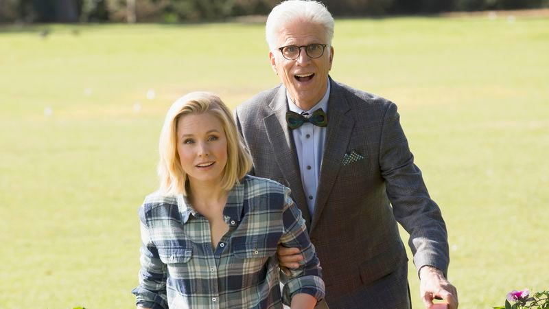 Kristen Bell and Ted Danson in The Good Place