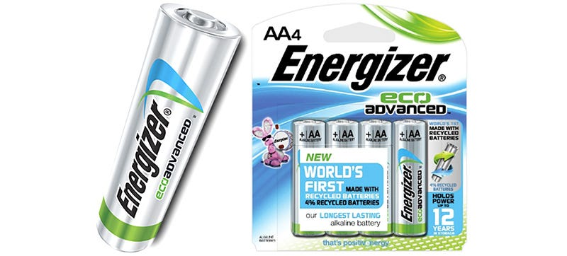 Illustration for article titled Energizer Is Finally Making AA Batteries Using Recycled Materials