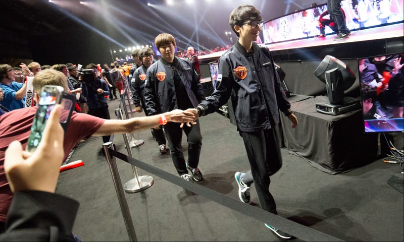 Illustration for article titled Top KoreanLeague Of LegendsTeam SKT Still Hasn't Lost A Single Game At Worlds