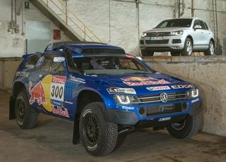 Illustration for article titled Red Bull VW Race Touareg 3 Is One Badass Beast