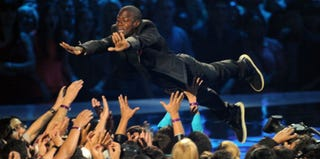 Kevin Hart dives into a California crowd. (Kevin Winter/Getty Images Entertainment)