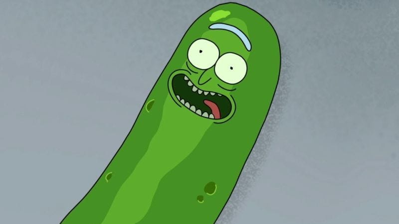 """Illustration for article titled Game Of Thrones showrunners recorded the audio commentary for Rick And Morty's """"Pickle Rick"""" episode"""