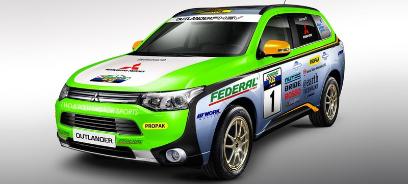 Illustration for article titled Is A Plug-In Hybrid Rally Rig Cool Enough To Make You Like Mitsubishi?