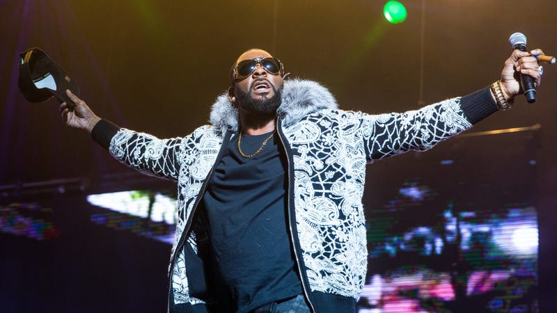 "R. Kelly, whose music was removed from Spotify's official playlists as part of its ""hateful conduct"" policy."