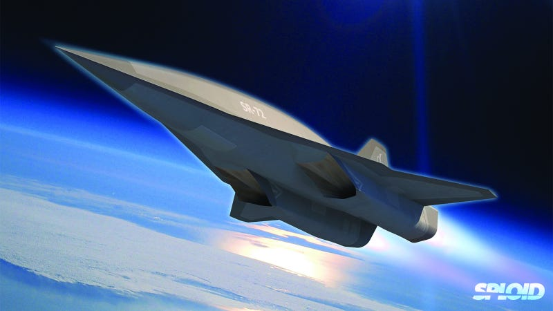 Illustration for article titled This is the amazing Lockheed Martin SR-72—the space Blackbird