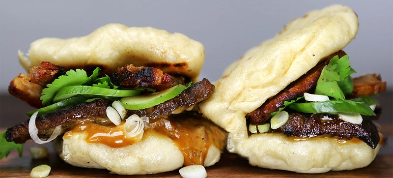 Illustration for article titled Is this the perfect Asian-inspired burger? Yes, yes it is