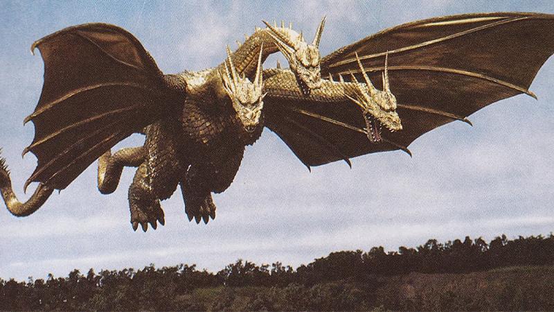 King Gidorah, as it appeared in 1991's Godzilla vs King Gidorah.