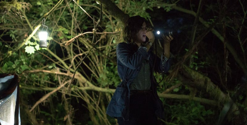 A scene from Adam Wingard's sequel, Blair Witch. All Images: Lionsgate