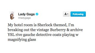 Illustration for article titled Lady Gaga Cosplays In the Coolest Hotel Room Ever