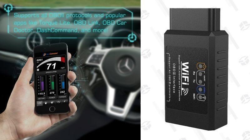 Escáner Dr. Meter OBD2 Wi-Fi   $12   Amazon   Usa el código LMD5ITVYGráfico: Shep McAllister