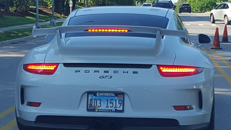 Was behind this car for a bit this morning —but he disappeared VERY quickly after the light change