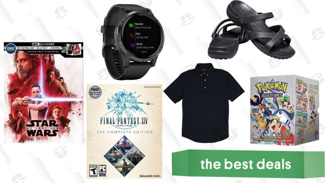 Sunday s Best Deals: Garmin Vivoactive 4S, Crocs Sandals, The Last Jedi Steelbook, and More