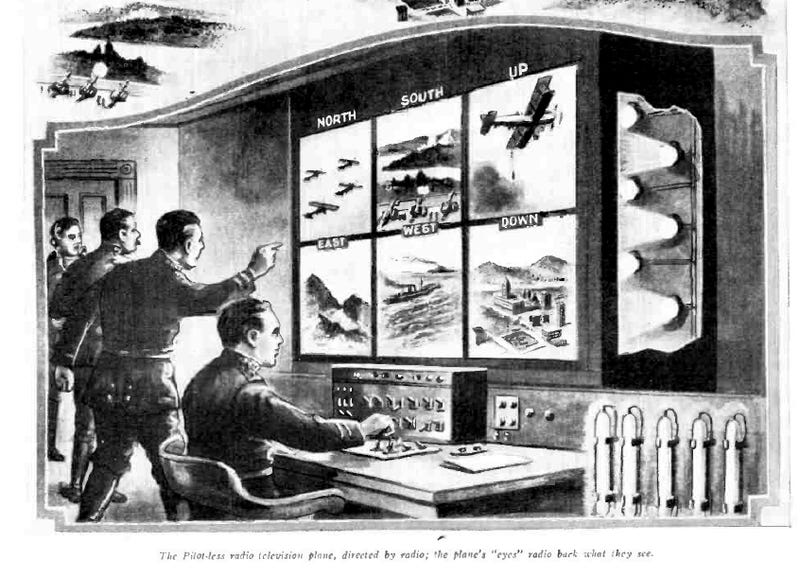 Illustration for article titled This 1924 Illustration Nails the Real Future of Drone Warfare