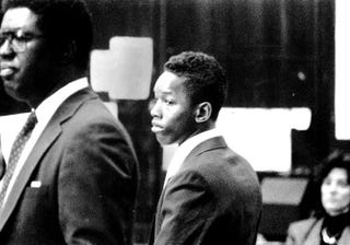 Korey Wise during his arraignment in 1989 in the Central Park-jogger caseThe New York Daily News via Facebook