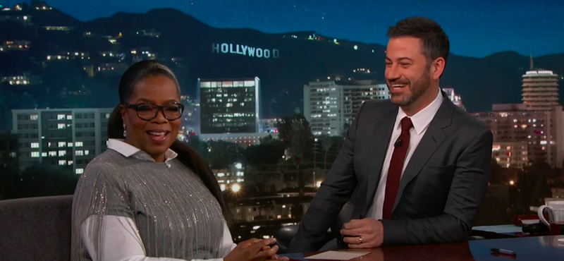 Oprah Winfrey, Jimmy Kimmel (Screenshot: Jimmy Kimmel Live!)