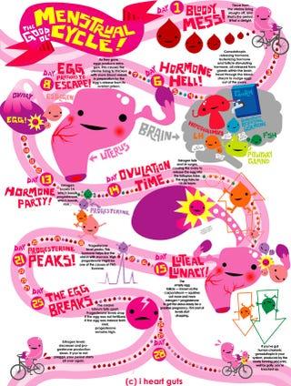 Menstrual flow chart coolest thing we ve seen all week