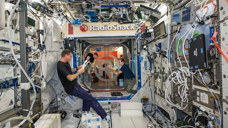The Radioshack on board the ISS.