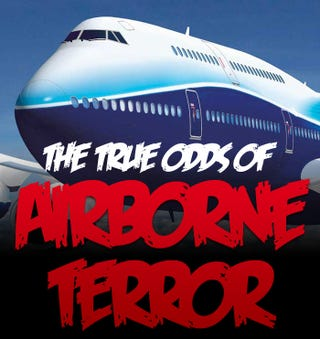 Illustration for article titled The True Odds of Airborne Terror Chart