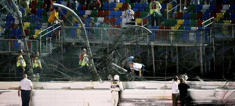 Illustration for article titled Officials Look For Ways To Make Racing Safer After Huge NASCAR Crash