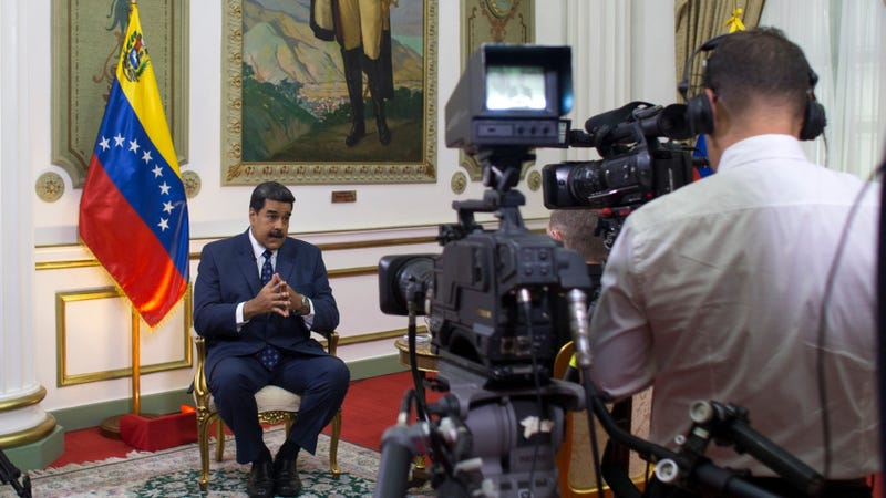 Venezuelan President Nicolás Maduro, seen here during an interview within Miraflores presidential palace in Caracas in February 2019.