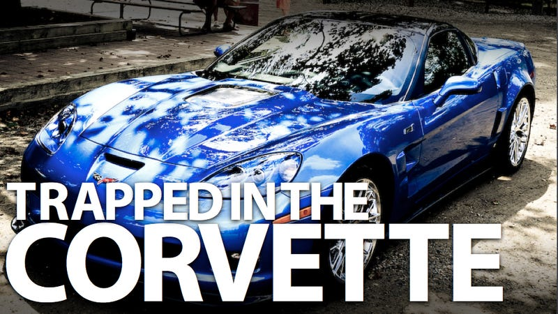 Illustration for article titled Corvette ZR1 owner calls 911 after locking himself in car