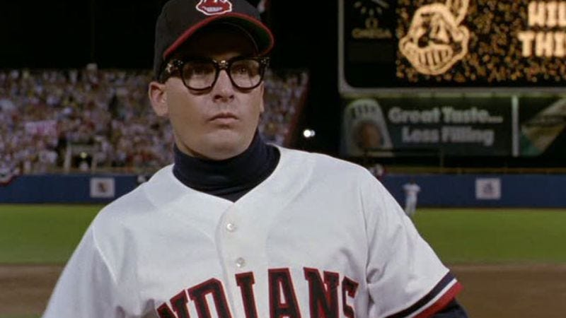 Illustration for article titled Charlie Sheen will happily play a Cleveland Indian again, if needed