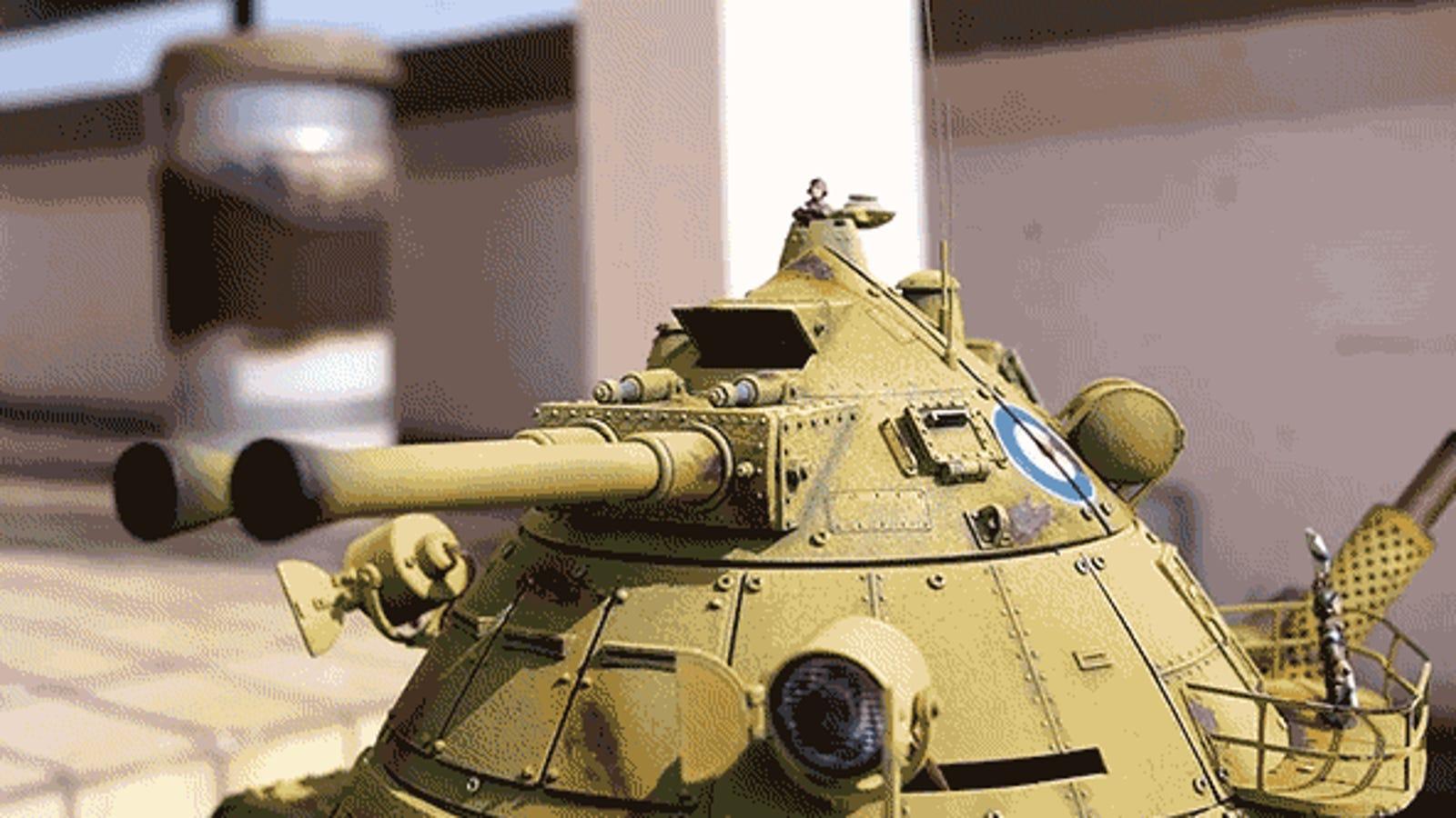 Te perderás en los detalles de este brutal tanque-robot impreso en 3D