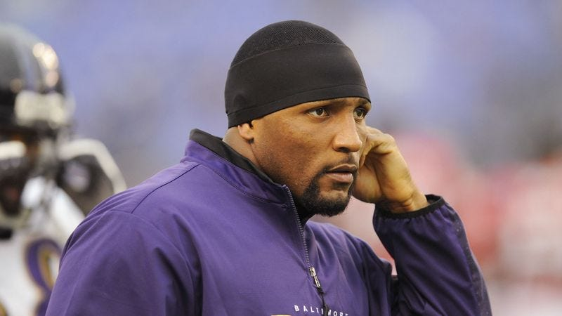 Illustration for article titled Ravens Already Dreading Ray Lewis Constantly Being On Sideline For Rest Of Season