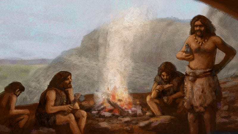 Illustration for article titled New Report Finds It Took Humans 3,000 Years After Developing Language To Work Up Confidence To Talk To Each Other